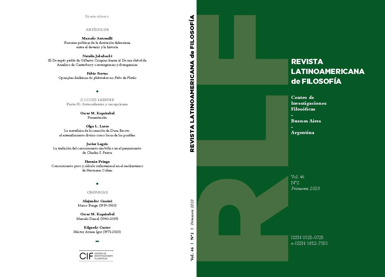 Ver Vol. 46 Núm. 2 (2020)