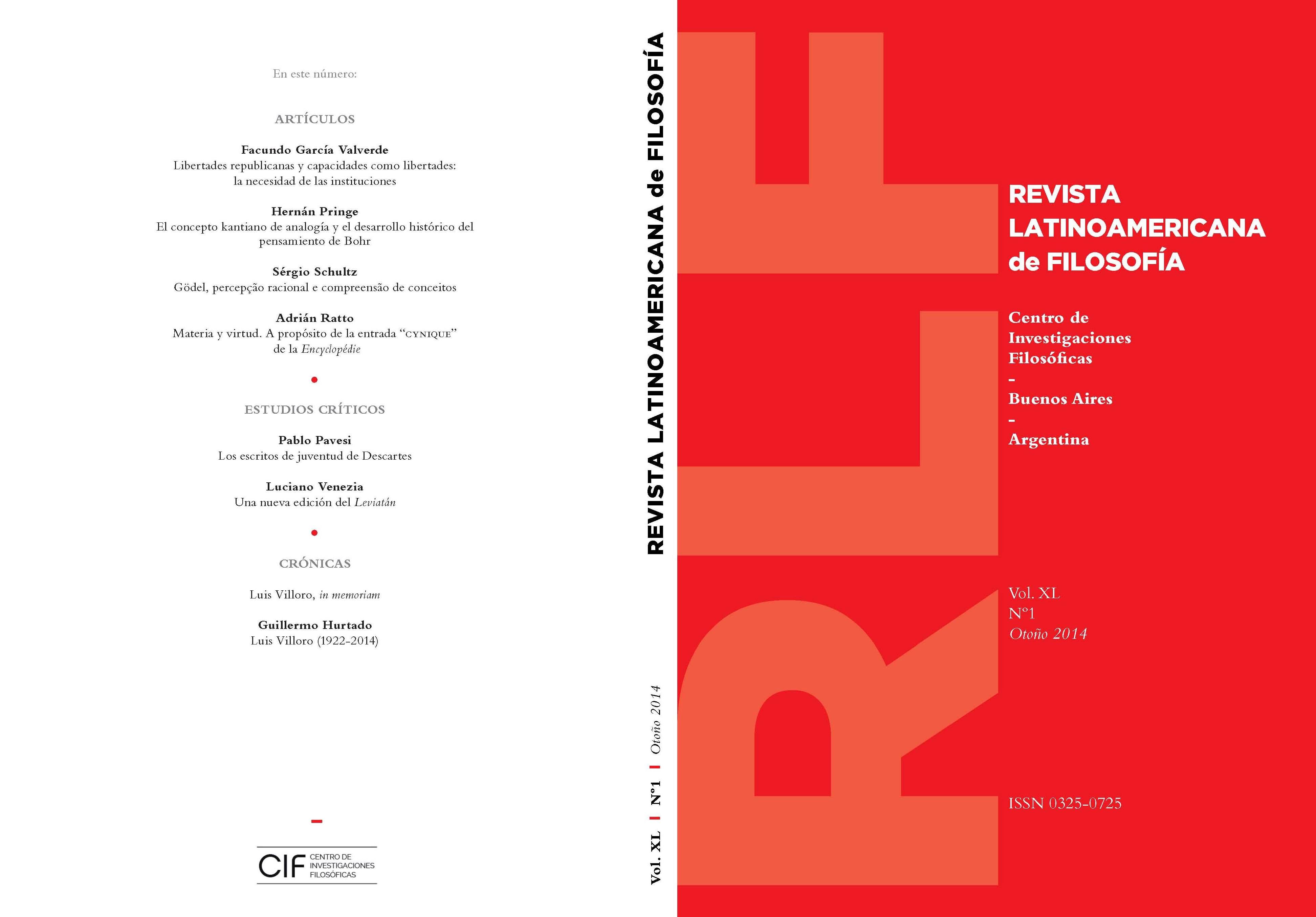 Ver Vol. 40 Núm. 1 (2014)