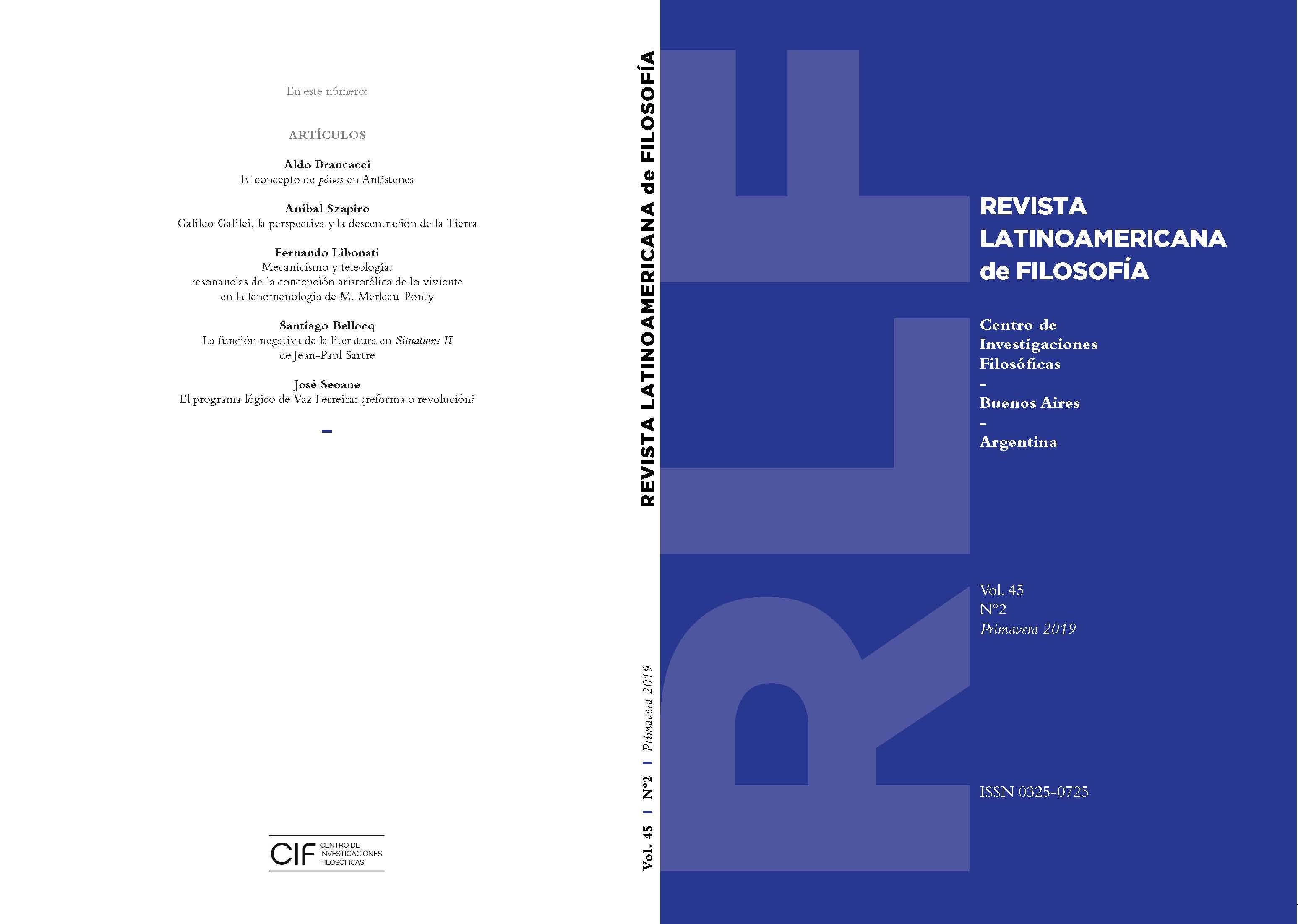 Ver Vol. 45 Núm. 2 (2019)