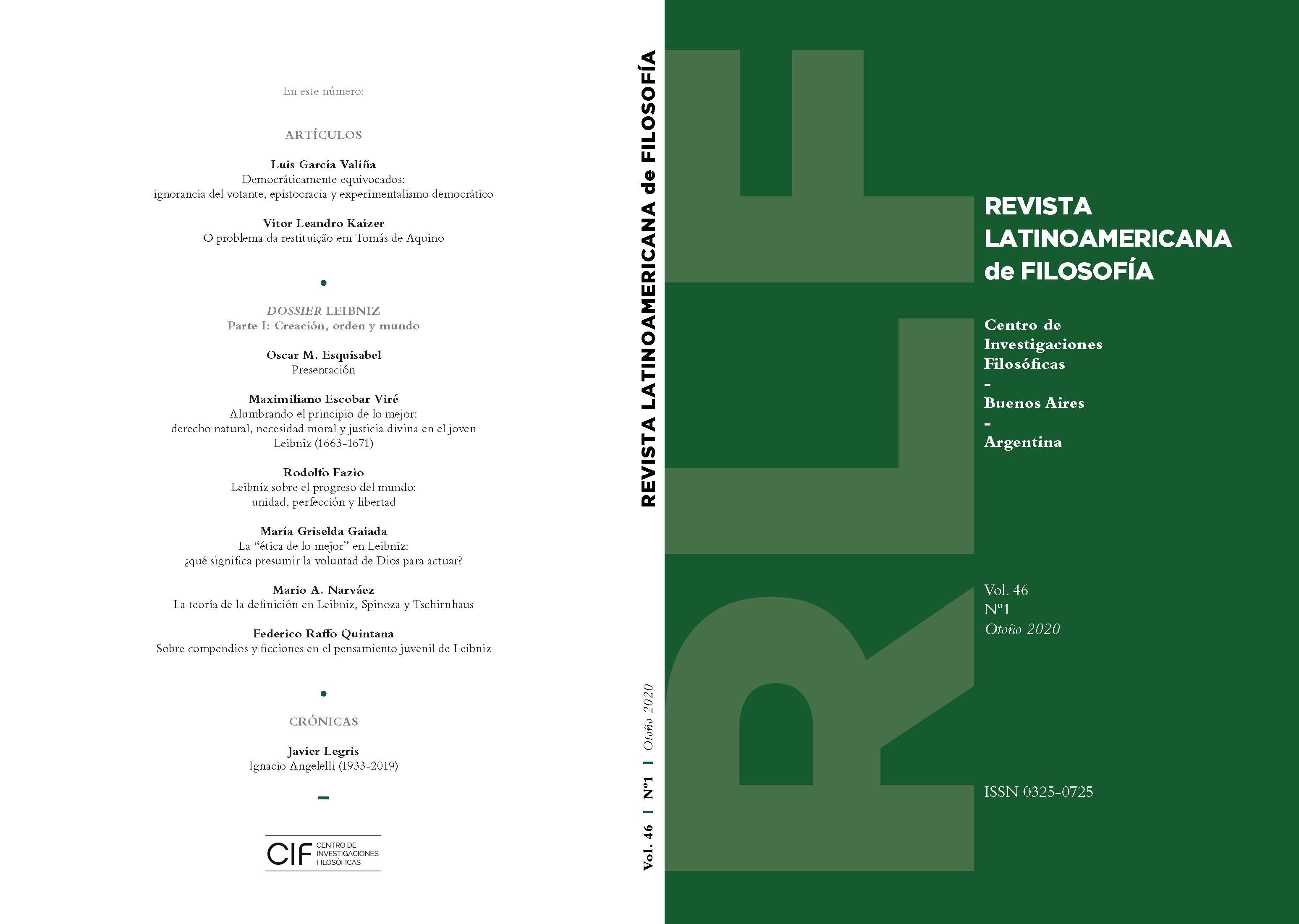 Ver Vol. 46 Núm. 1 (2020)