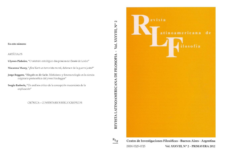 Ver Vol. 38 Núm. 2 (2012)