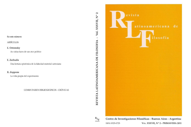 Ver Vol. 37 Núm. 2 (2011)