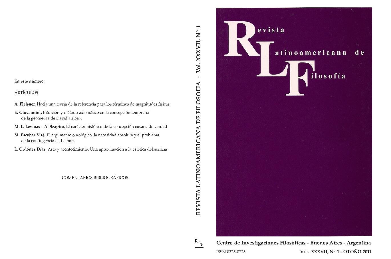 Ver Vol. 37 Núm. 1 (2011)