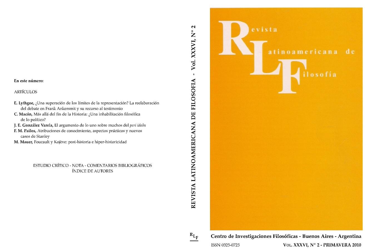 Ver Vol. 36 Núm. 2 (2010)