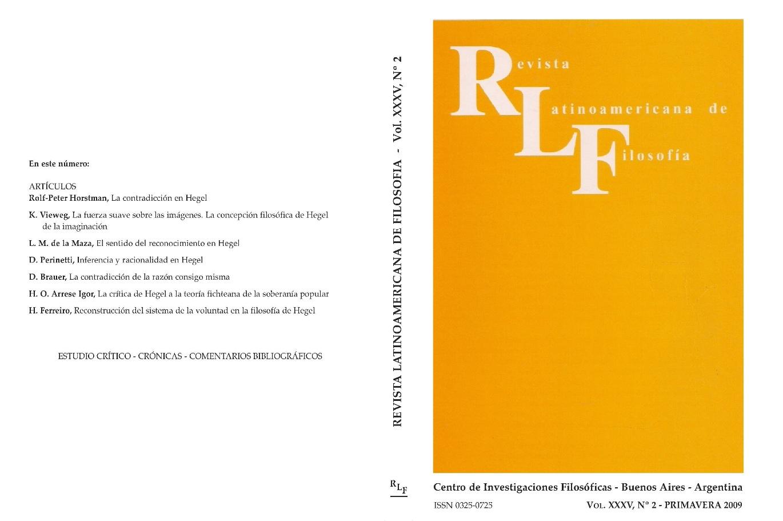 Ver Vol. 35 Núm. 2 (2009)