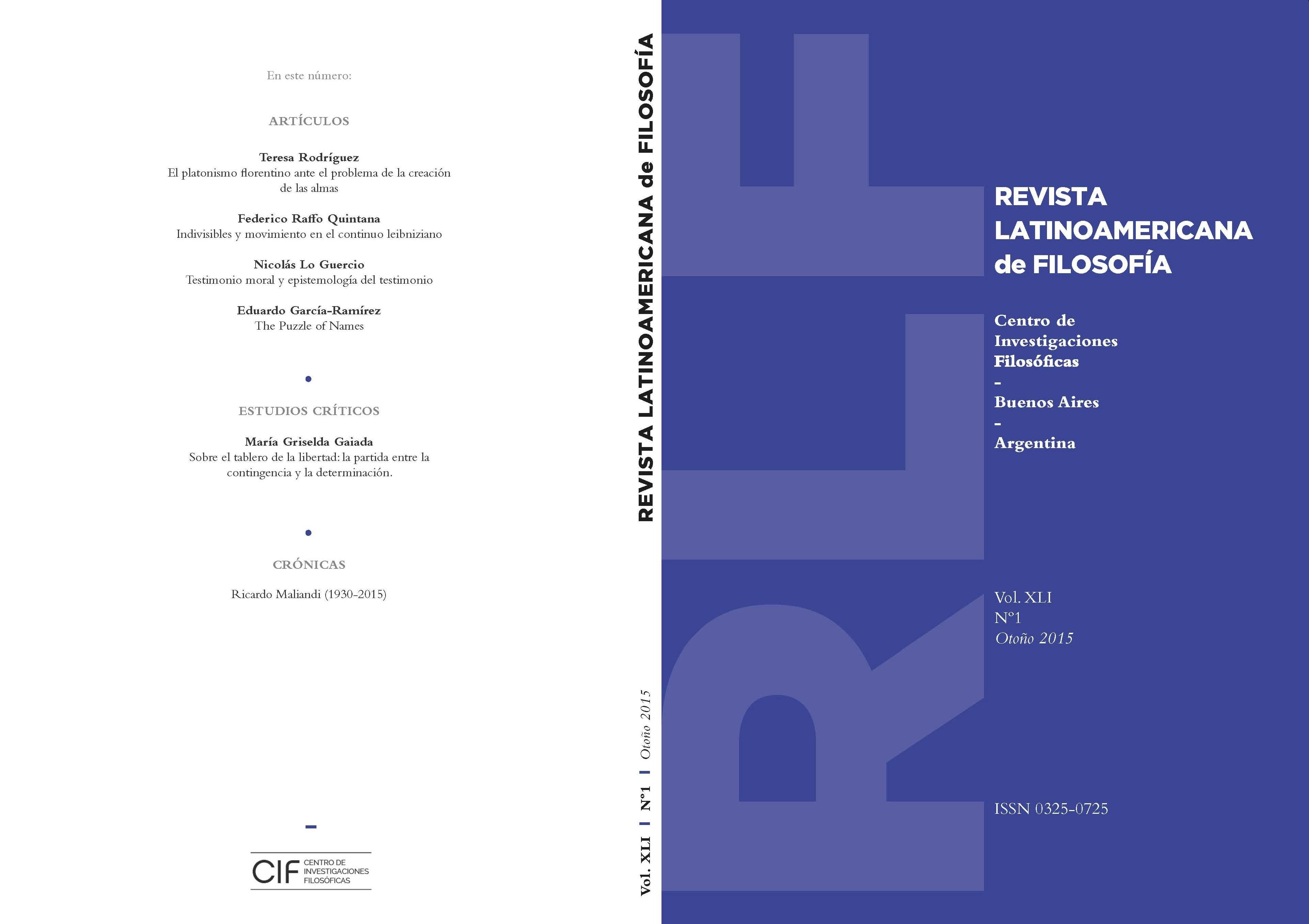 Ver Vol. 41 Núm. 1 (2015)