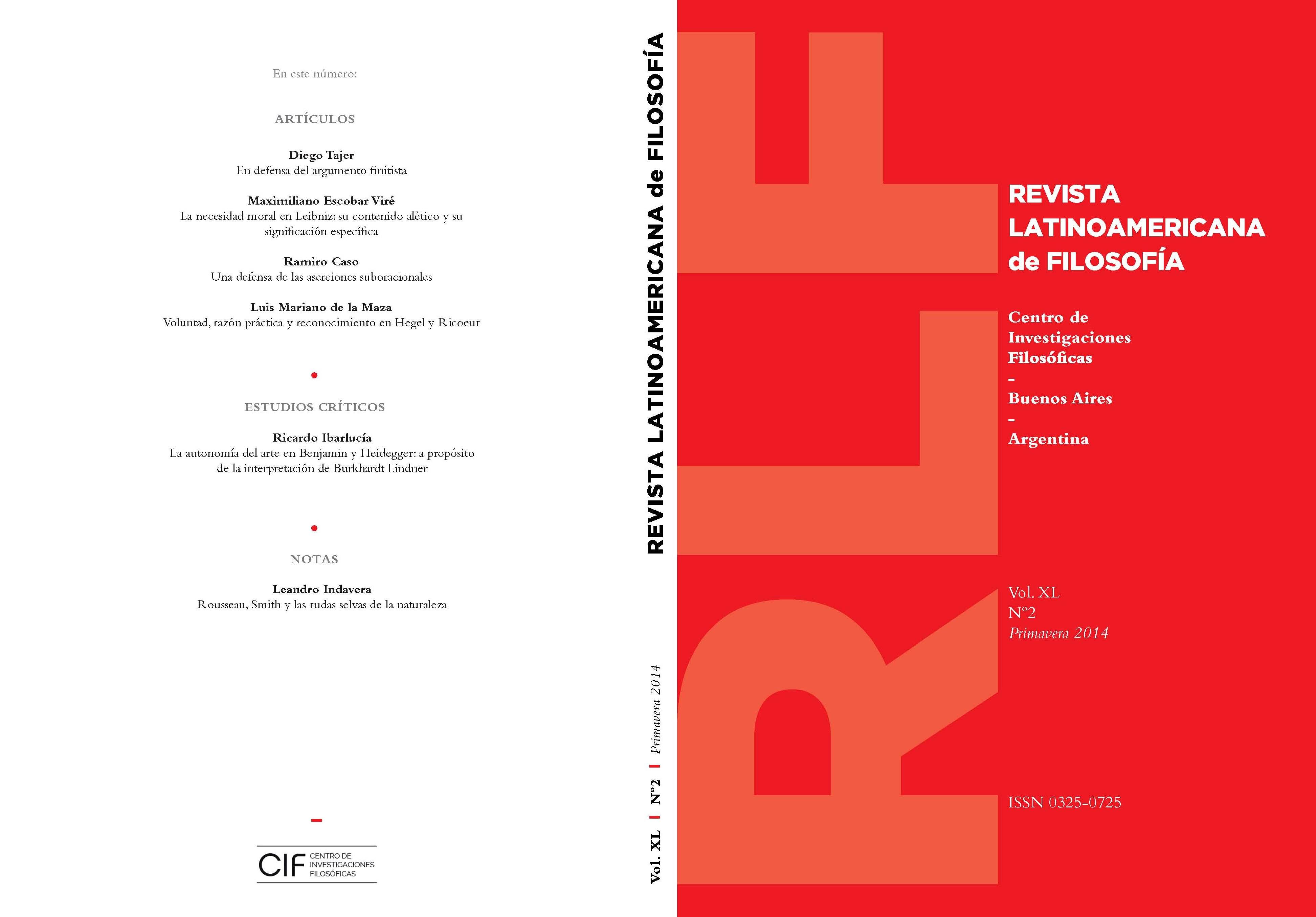 Ver Vol. 40 Núm. 2 (2014)